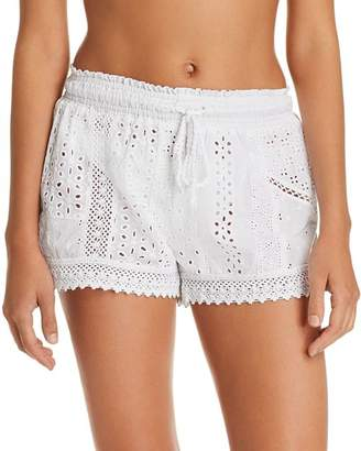 Ralph Lauren Eyelet Cotton Swim Cover-Up Shorts