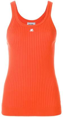 Courreges rib knit vest