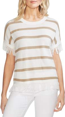 Vince Camuto Textured Stripe Sweater
