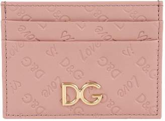 Dolce & Gabbana Leather Logo Embossed Card Holder