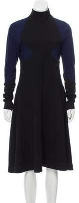 Paco Rabanne Wool Colorblock Dress