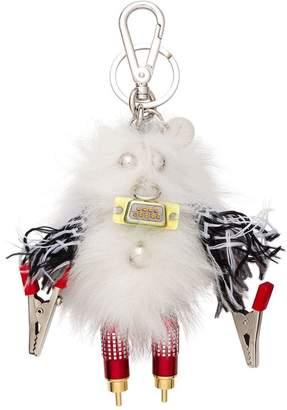 Prada Rufus Fur Keychain Trick