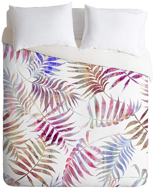 Schatzi Brown Reeya Tropical White Duvet Cover