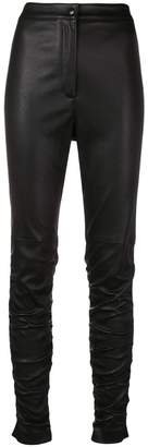 Alexander Wang ruched leather trousers