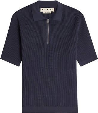 Marni Zipped Cotton Polo Shirt