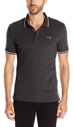 Armani Jeans Men's Tipped Short Sleeve Polo Shirt S