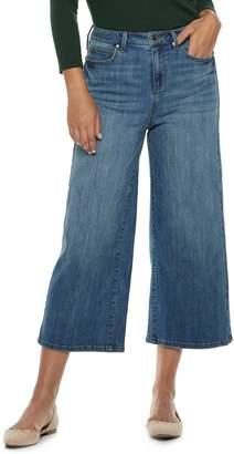 JLO by Jennifer Lopez Women's High-Waisted Wide-Leg Crop Jeans