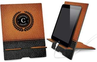 Monogram Online Leather Background Personalized Book and iPad Stand