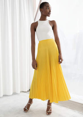 e6a0feeb7c4893 And other stories Pleated Midi Skirt