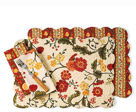 Gump's Full Bloom Reversible Linens