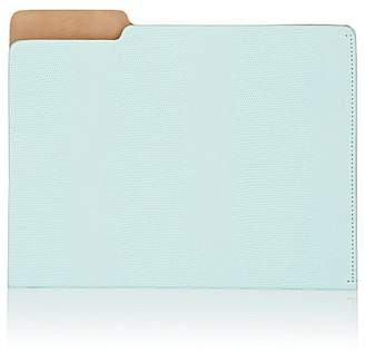 Barneys New York Lizard-Embossed Leather File Folder