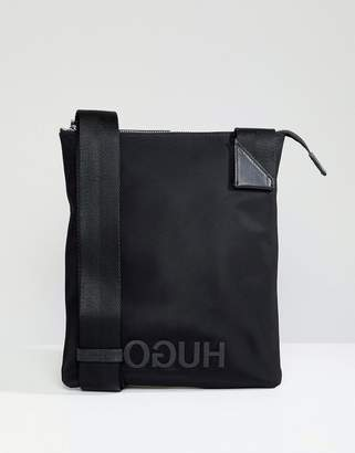 HUGO Logo Nylon Zip Bag