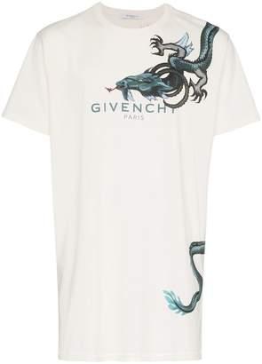 Givenchy dragon white t shirt