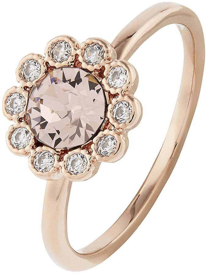 Rose Gold Flower Ring - Pink