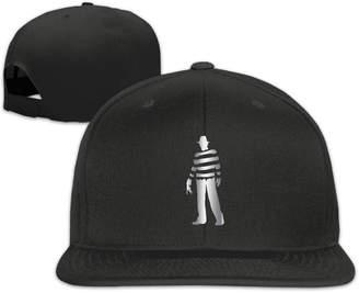Freddy Km6jki Krueger Platinum Style Flat Billed Baseball Hat