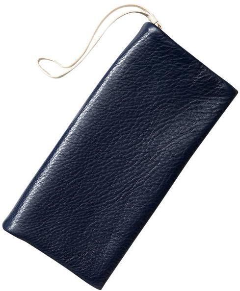 Gap Leather foldover clutch