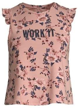 Kate Spade New York Prairie Work It Ruffle Tank Top