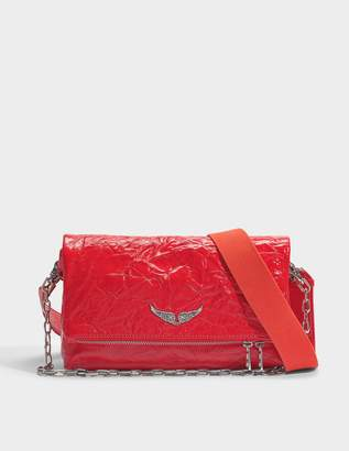 Zadig & Voltaire Rocky Creased Bag in Red Cow Leather