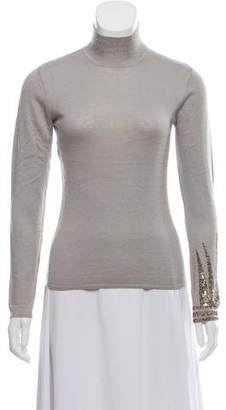 Narciso Rodriguez Embellished Long Sleeve Sweater