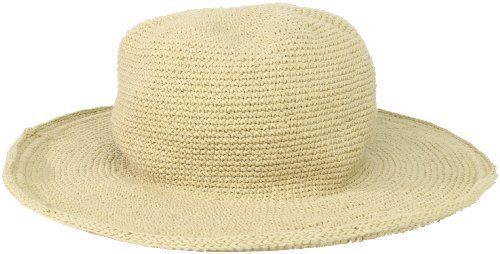 San Diego Hat Company San Diego Hat Women's Cotton Crochet Floppy Hat with 3 Inch Brim