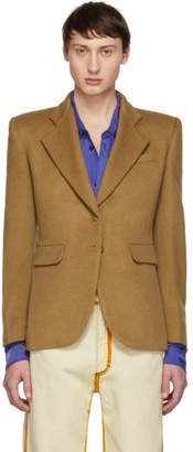 Eckhaus Latta Tan Wool Blazer