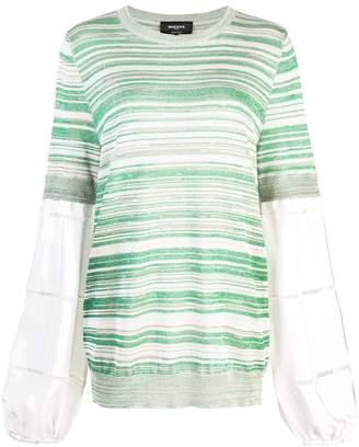 Rochas layered striped jumper