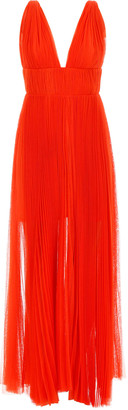 Maria Lucia Hohan Long Pleated Dress