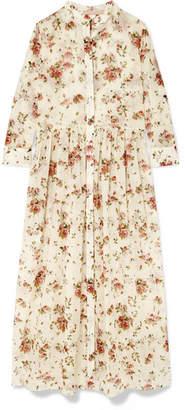 Brock Collection Disco Floral-print Cotton-voile Midi Dress