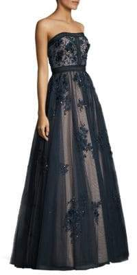 Basix II Black Label Floral Bodycon Ball Gown