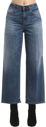 Diesel High Waist Straight Leg Denim Jeans