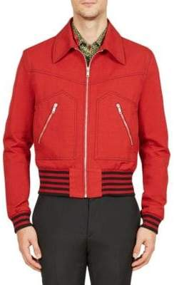 Givenchy Seamed Cotton Zip Bomber