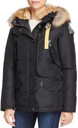 Parajumpers Doris Mixed Fur Trim Down Coat