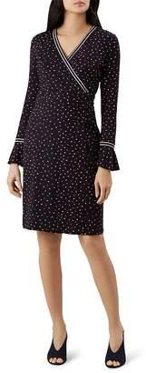 Hobbs London Melanie Printed Faux-Wrap Dress