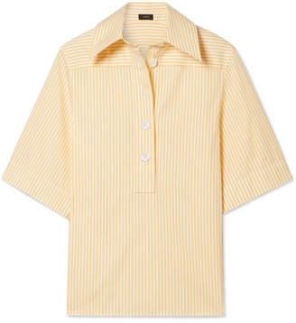 Joseph Griffin Striped Cotton-poplin Shirt - Yellow