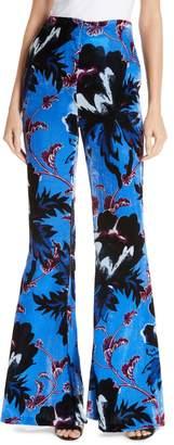Diane von Furstenberg Erica Floral Flare Leg Pants