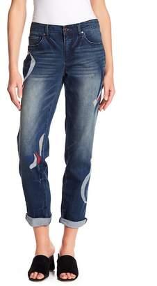 Vintage America Blues Gratia Embroidered Bestie Distressed Jeans