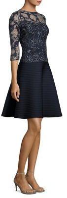 Tadashi Shoji Lace Bodice A-Line Dress $390 thestylecure.com