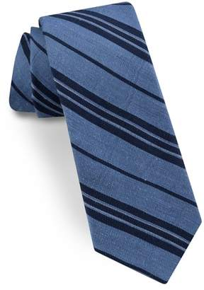 Ted Baker Striped Silk & Linen Tie