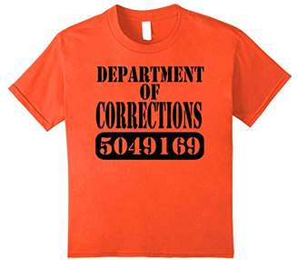 Department of Corrections Prisoner Halloween Costume T-shirt