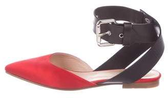 Monse Satin Ankle Strap Flats