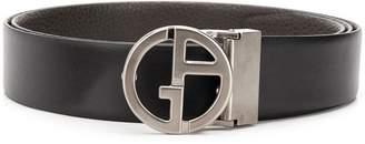 Giorgio Armani logo plaque belt