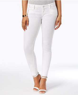 GUESS Raw-Hem Ankle Skinny Jeans