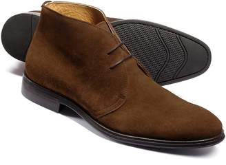 Brown Suede Performance Chukka Boot Size 11.5 by Charles Tyrwhitt