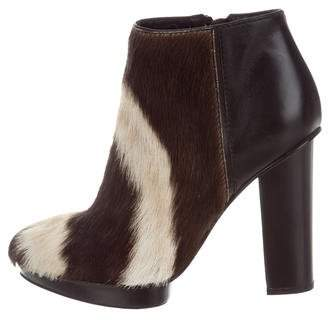 Devi Kroell Ponyhair Printed Ankle Boots