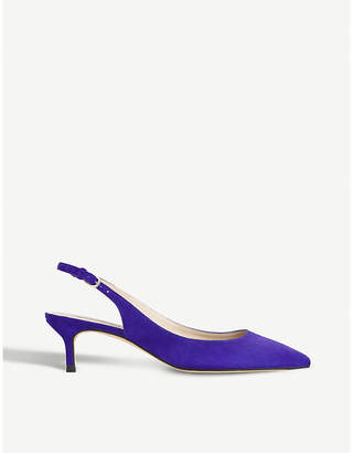 LK Bennett Ava patent-leather slingback courts
