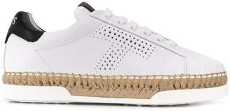 Tod's lace-up woven sneakers