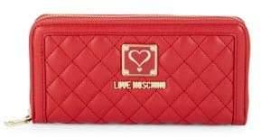 Love Moschino Logo Zip-Around Wallet