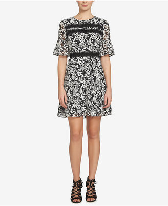 CeCe Alayna Floral-Print Ruffle Fit & Flare Dress $138 thestylecure.com