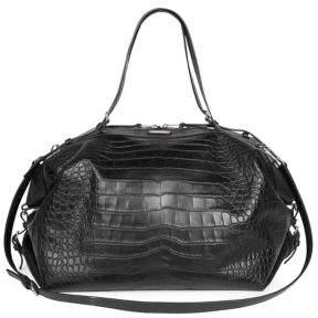 Saint Laurent (サン ローラン) - Saint Laurent Crocodile Embossed Leather Duffel Bag