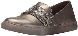 Kenneth Cole Reaction Women's Kam Slip On Fashion Sneaker with Mini Jewel Strap Accent Metallic